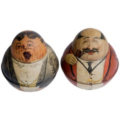 Pair of Roly Poly Tindeco Tobacco Tins