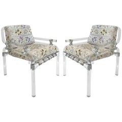 Pair of Jeff Messerschmidt Lucite Pipeline Chairs