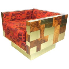 Paul Evans Cube Lounge Chair in Alexander Girard Fabric