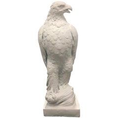 Large Classical Plaster Eagle Sculpture, 1945