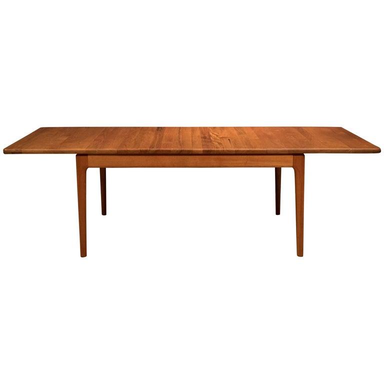 Mid Century Danish Solid Teak Dining Table