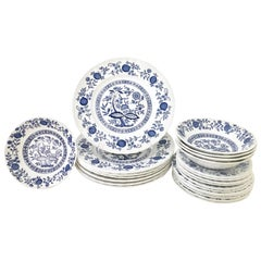 "20th Century Wedgwood Dinnerware ""Blue Onion"" & ""Heritage"" Set of 23 Pieces"