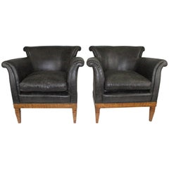 Pair of Swedish Early 20th Century Bergeres in Golden Birch