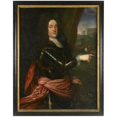 Oil Painting on Canvas of the Marcheral of Louis XIV, Louis Francois de Bouffie