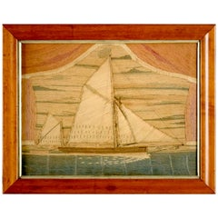 British Sailor's Woolwork of a Bowspirit Thames Barge, circa 1870