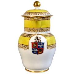 Barr Worcester Yellow-Ground Armorial Porcelain Jug, circa 1800