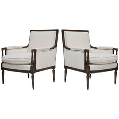 Pair of Neoclassic Style Armchairs