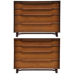 Pair of Midcentury Four-Drawer Chests