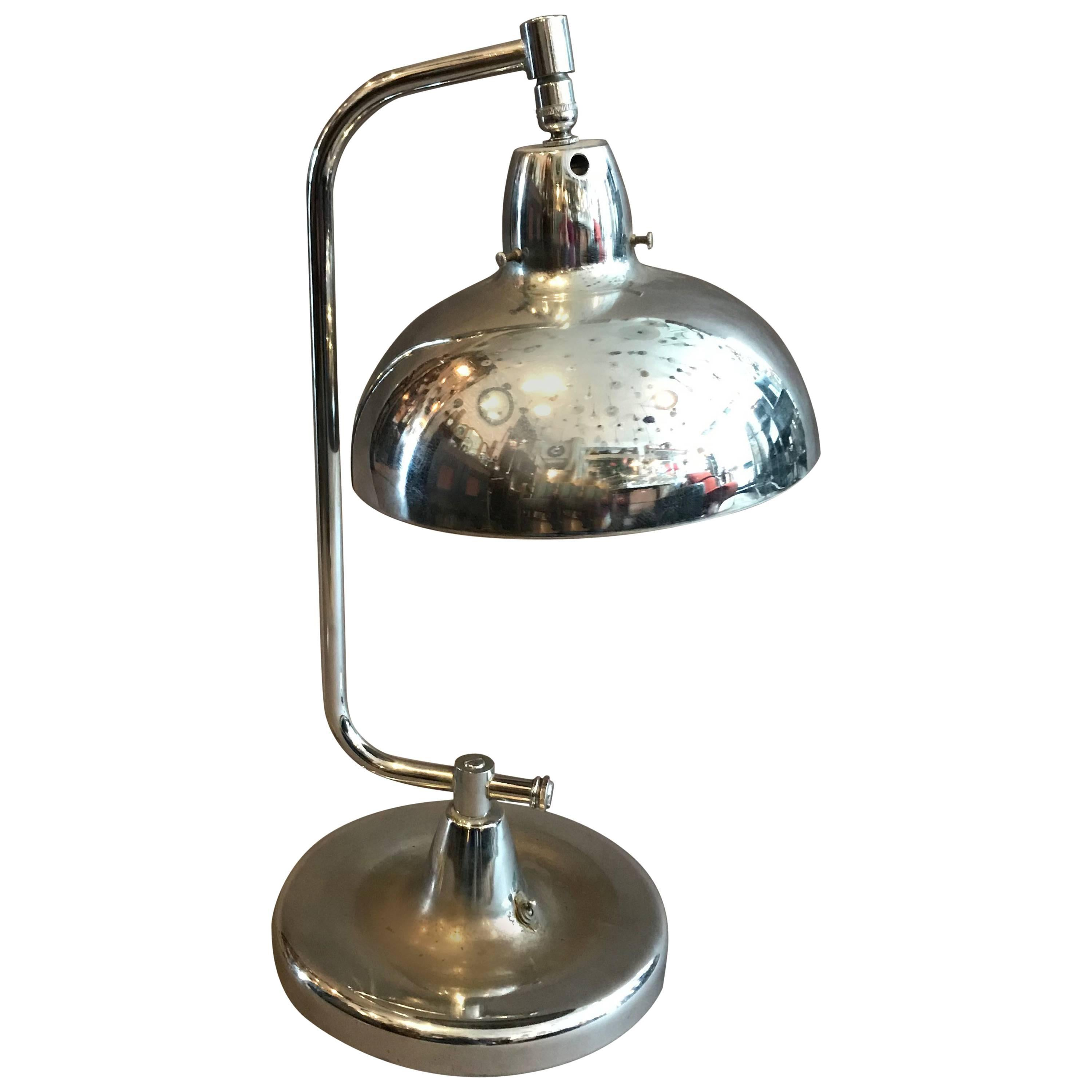 Chrome Jewelers Table Lamp by Apollo