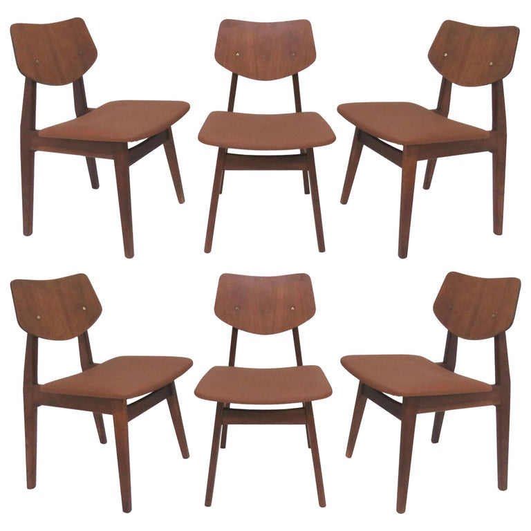 Set of Six Jens Risom Dining Chairs
