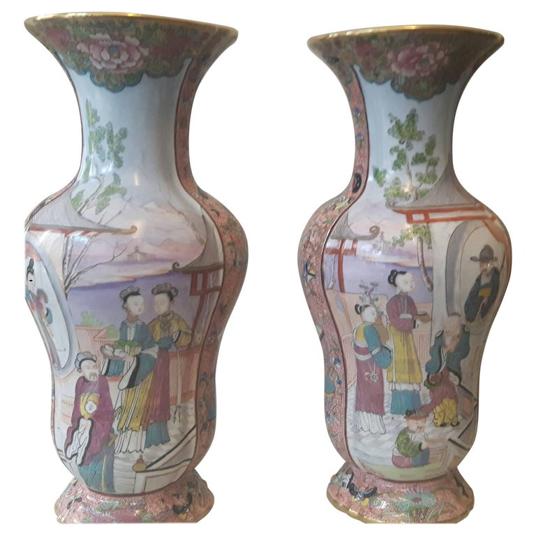 Highly Decorative Pair of 19th Century French Vases