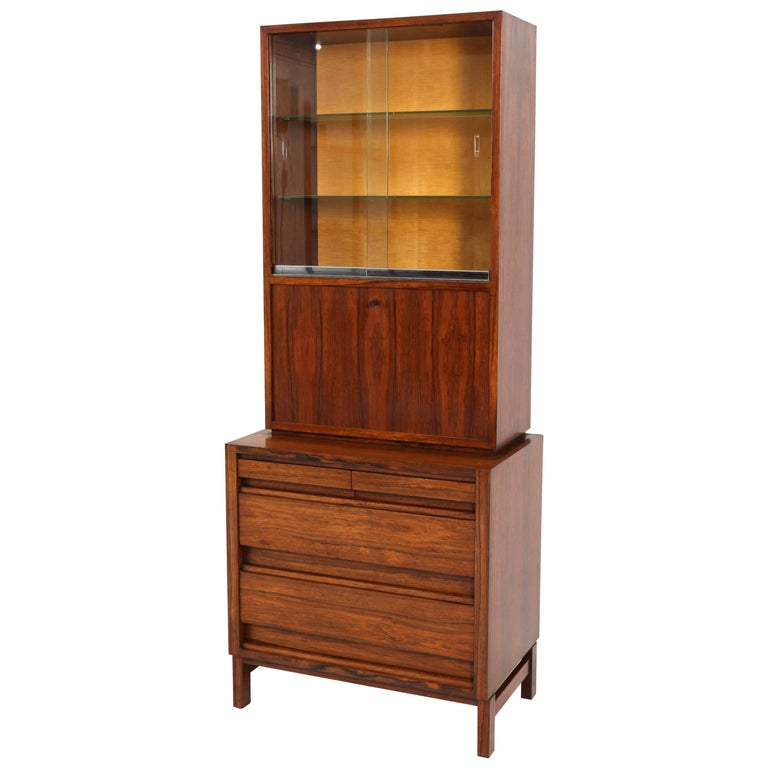 f0f1756506be5 Rosewood Mid-Century Modern Bar Cabinet