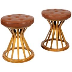 "Pair of Edward Wormley for Dunbar ""Sheaf of Wheat"" Stools"