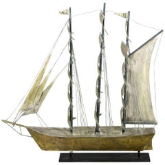 Full Rig American Ship Weathervane, circa 1930-1940