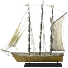 Full Rig American Ship Weathervane, circa 1930-1940