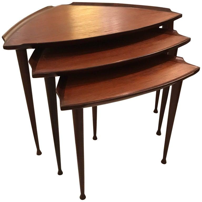Midcentury Danish Walnut Nesting Tables