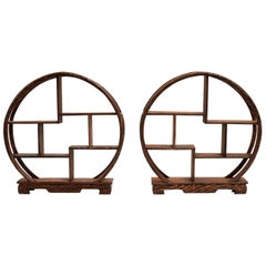 Pair of Small Display Stands, Mini Shelves, Solid Rosewood
