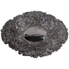 Antique English Victorian Aesthetic Sterling Silver Bowl