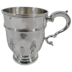 Antique English Sterling Silver Strapwork Baby Cup