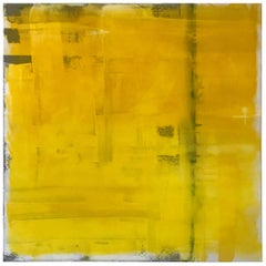 "Contemporary Vibrant Abstract Painting Titled ""Yellow"" by Rebecca Ruoff, 2018"