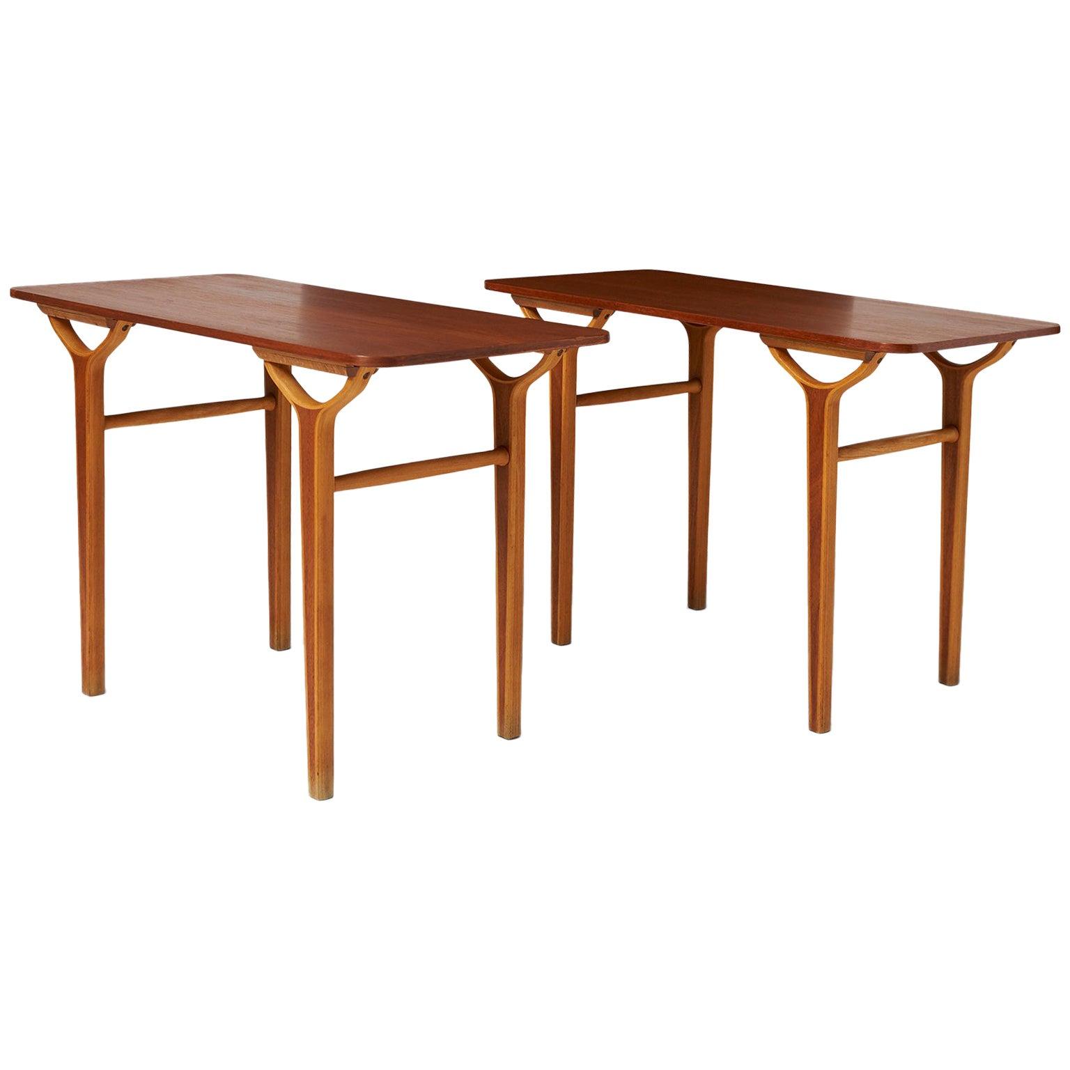 Peter Hvidt & Orla Molgaard Nielsen AX Series Side Tables