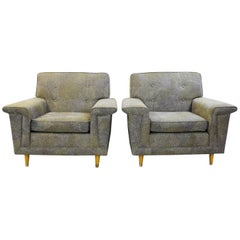Pair of American Armchairs, Rowe - New Upholstery by Pierre Frey Collection