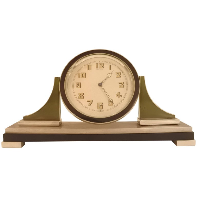 Cartier Art Deco Table Clock For Sale
