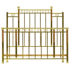 Brass Bed US Queen UK King-Size, French, Early 20th Century 1920