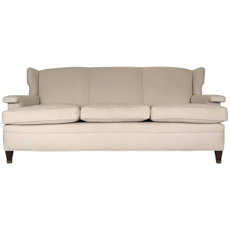 Large Three-Seat Sofa in the Manner of Jean Michel Frank