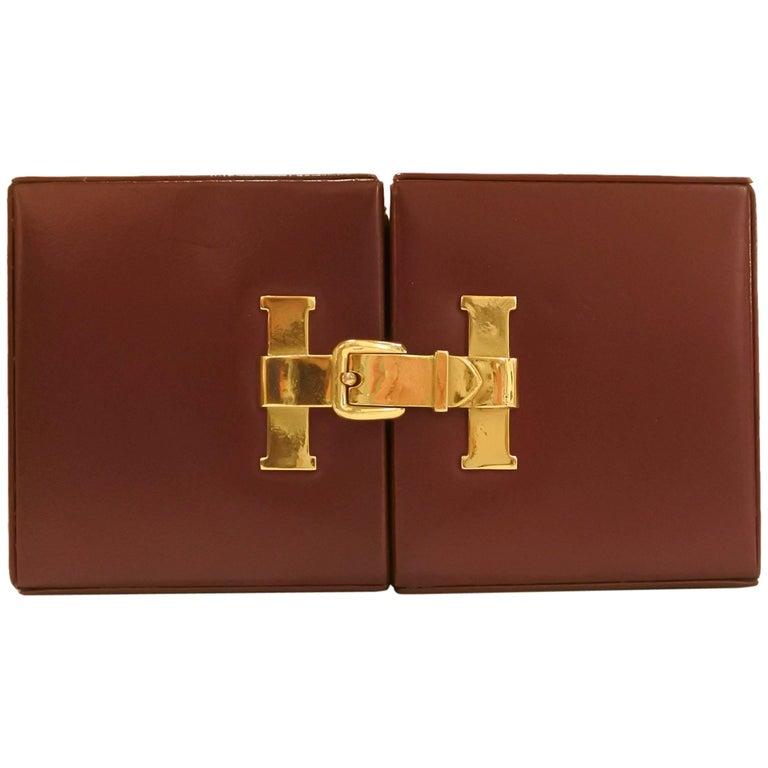 "Hermes ""H"" Folding Clock"