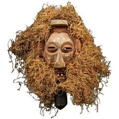 Yaka Tribal Boy's Iniation Mask with Raffia, Congo, (DRC)