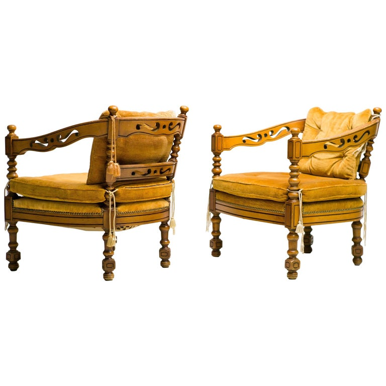 Distinguished Pair of Giorgetti Armchairs of the 1975 Gallery Collection