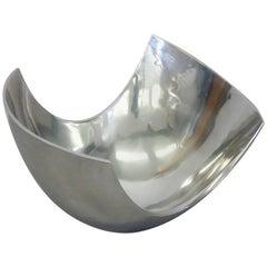 Large Michael Lax Polished Aluminum Bowl