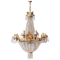 Empire Leuchter Kristall Sac eine Perle Lampe Glanz Jugendstil