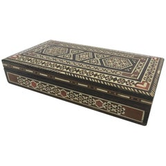 Syrian Inlay Jewelry Wooden Box