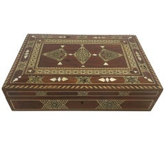 Large Islamic Syrian Wooden Micro Mosaic Box