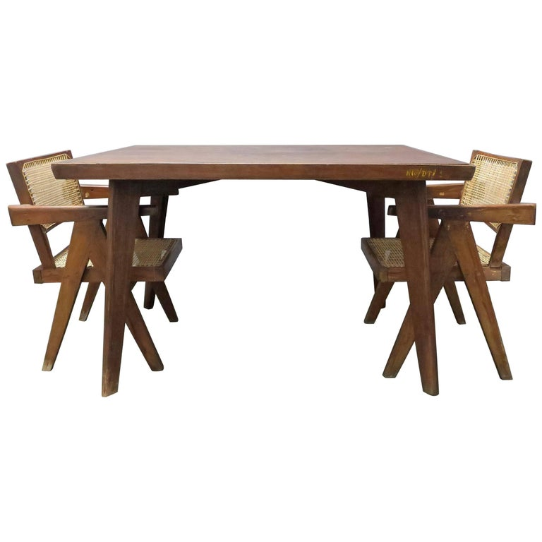 Pierre Jeanneret Dining Table For Sale
