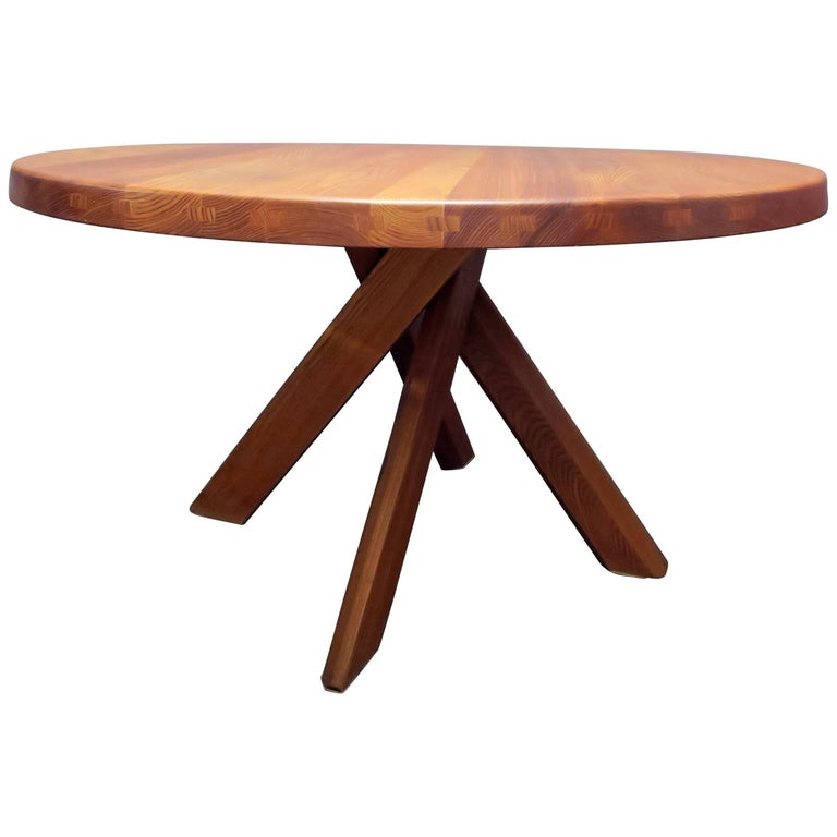 Pierre Chapo T21 Dining Table For Sale