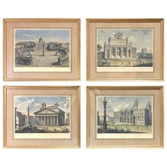 Four 19th Century Engravings Views of Italy