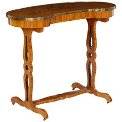 19th Century French Louis XVI Kingwood Writing Table a Rognon