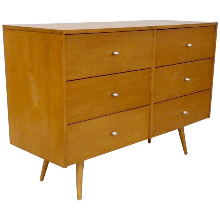 Paul McCobb for Winchendon Original Finish Planner Group Double Dresser