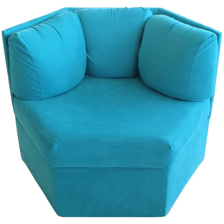 Three Hexagonal Club Chairs by Milo Baughman for Thayer Coggin
