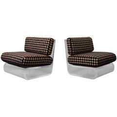 Pair of Gary Gutterman Lucite Lounge Chairs