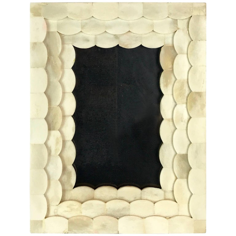 French Art Deco Carved Bone Frame