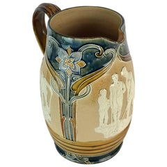 Doulton Lambeth Golf Motif Pitcher