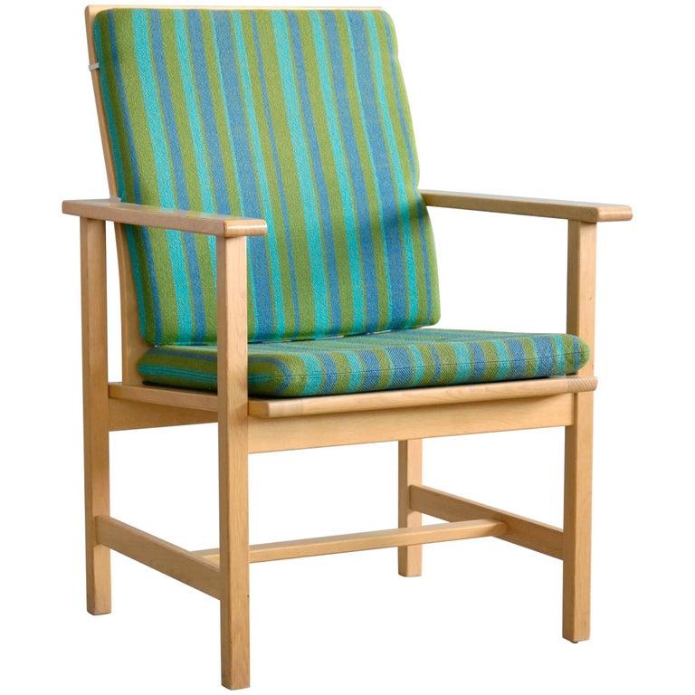 Børge Mogensen Model 2257 1960s Oak Lounge Chair for Fredericia Stolefabrik