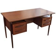 Danish Teak Desk by Pedersen with Floating Top