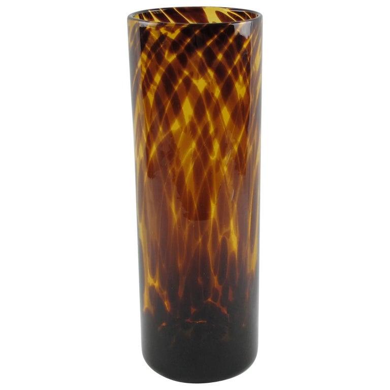 Empoli for Christian Dior Tortoiseshell Glass Tumbler Vase