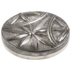 Alice & Eugene Chanal French Art Nouveau Dinanderie Polished Pewter Box