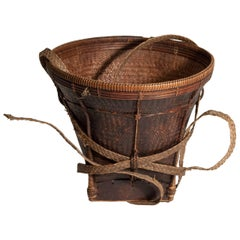 Tribal Collecting Basket from the Ata Pue Area of Laos, Mid-20th Century, Bamboo